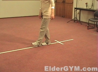 Balance Exercise For Seniors And The Elderly; Heel To Toe ...