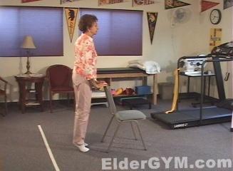 Calf raise movement position