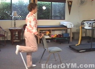 Standing knee flexion move position