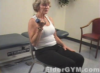 Elbow Exercises on Lift Car For Grocery