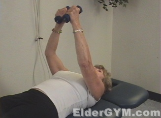 Shoulder press lying down end